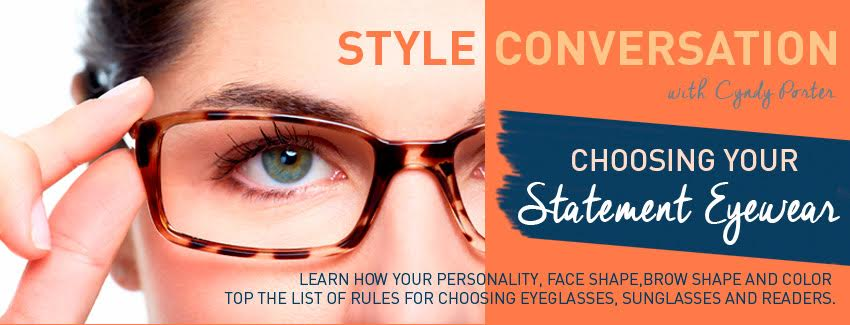 cyndy porter choosing statement eyewear, glasses readers