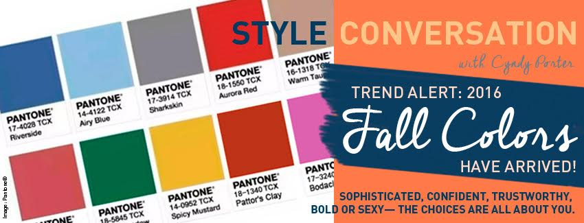 2016 fall colors pantone fashion banner